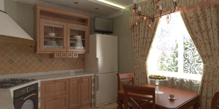 Проект кухні в приватному будинку